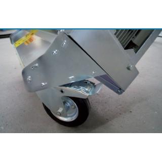 Schwenkbare Räder für Vorreiniger-Abladestation
